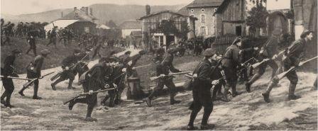Reconstitution des combats engagés par les chasseurs alpins à Nompatelize